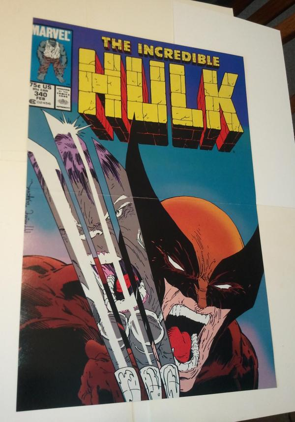Wolverine Hulk Poster # 4 Todd Mcfarlane Incredible 340 Cover