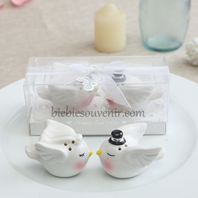 Angel Birds Salt Pepper souvenir pernikahan tempat lada garam