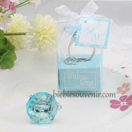 souvenir blue diamond ring keychain