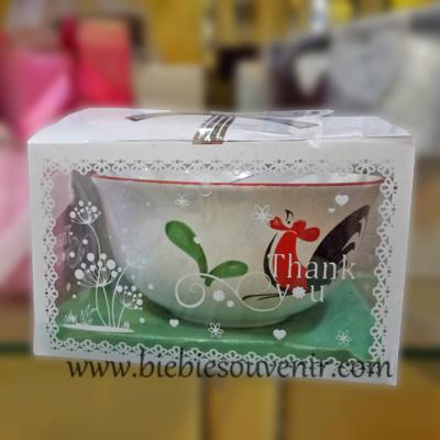 souvenir mangkok ayam keramik