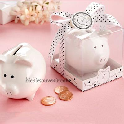 souvenir pernikahan celengan keramik babi piggybank