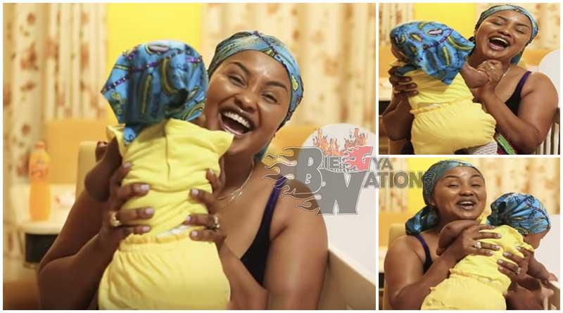 nana ama mcbrown with daughter Maxin Mawushi Mensah.