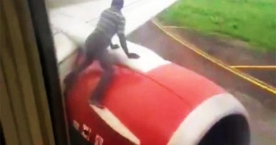 Nigerian man jumps on aircraft he thought was flying to Ghana.