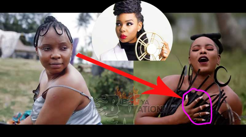 Yemi Alade washes with fake nails in her Home video.