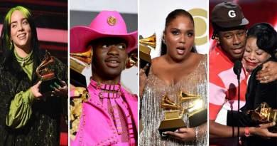 2020 Grammy awards winners list Billie Eilish Lil Nas X.