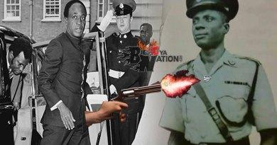 Osagyefo Dr Kwame Nkrumah bullet taken by Salifu Dagarti at the Flagstaff House.