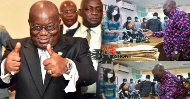 President Akufo Addo files nomination forms to the Electoral Commission Jean Mensah