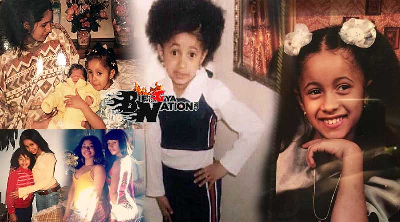 Cardi B with her mother and younger sister Hennessy Carolina Almanzar childhood photos