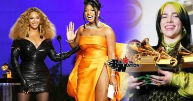 2021 Grammy Awards winners Beyonce, Taylor Swift, Megan Thee Stallion, Billie Eilish win.