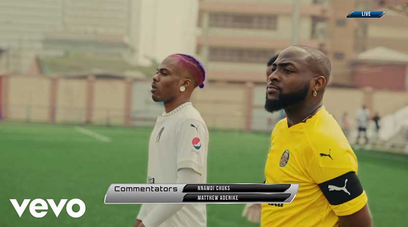 Davido ft CKay La La Music Video directed by Dammy Twitch, song produced by BlaiseBeatz.