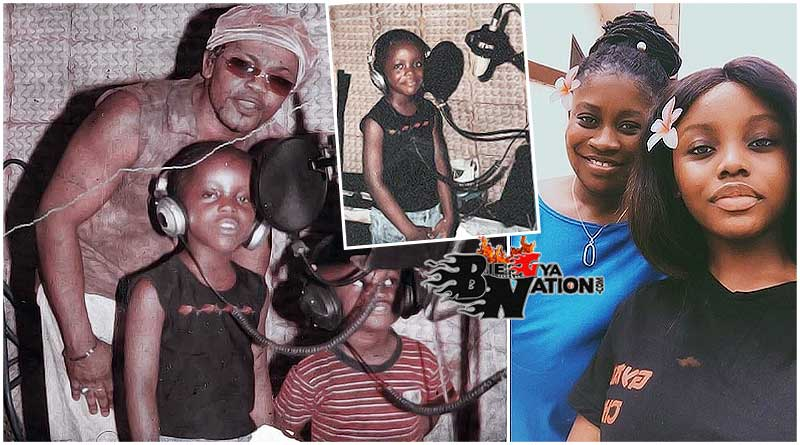 Gyakie father Ernest Owoahene Nana Acheampong, younger brother Justin, Gyakie and mother Mariam