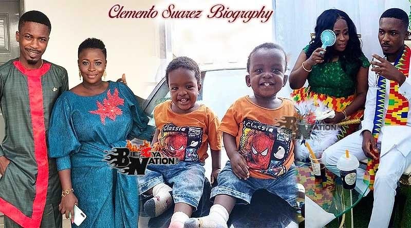 Clemento Suarez with his wife, Sylvia Akua Achia Bioh and their twins