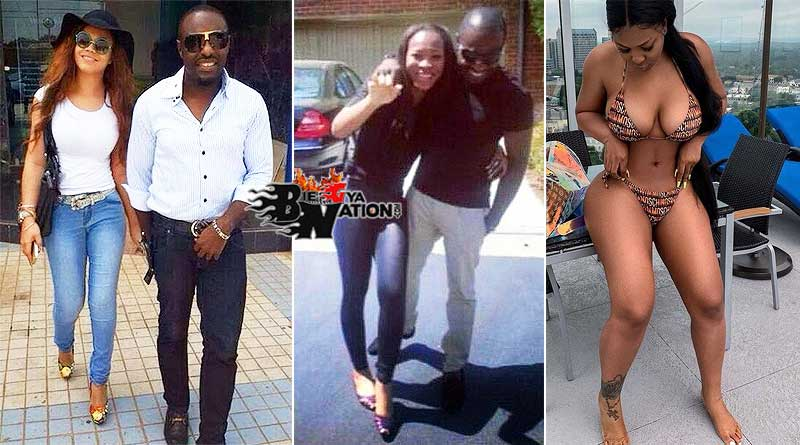 Sandra Benede with her boyfriend Jim Ike and Nadia Buari old photos.