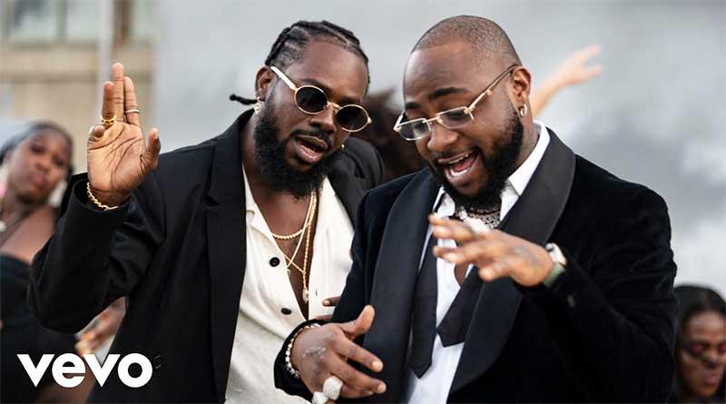 Adekunle Gold featuring Davido performing High Music Video.