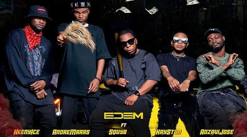 Edem feat Kay Stun, Andre Marrs, Squyb, Adjavi Jose and Keeny Ice performs Woss Music Video.