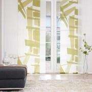 Flächenvorhänge - Gästezimmer - Grün gemustert
