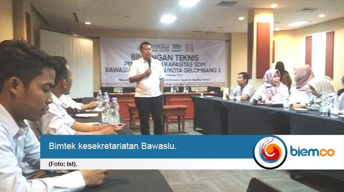 Tingkatkan Kapasitas SDM Kesekretariatan, Bawaslu Banten Gelar Bimtek