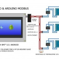 Modbus Rs485 Wiring Diagram Lighting Contactor Touch Screen Android Connected To Arduino Slaves Via Schema