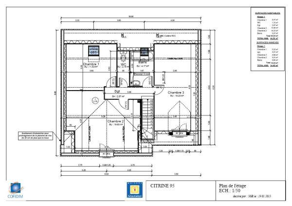 plan etage citrine