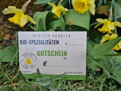 Bio-Kerstein-Gutscheine