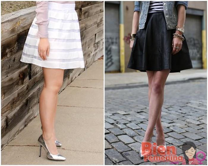 Scarpin y falda