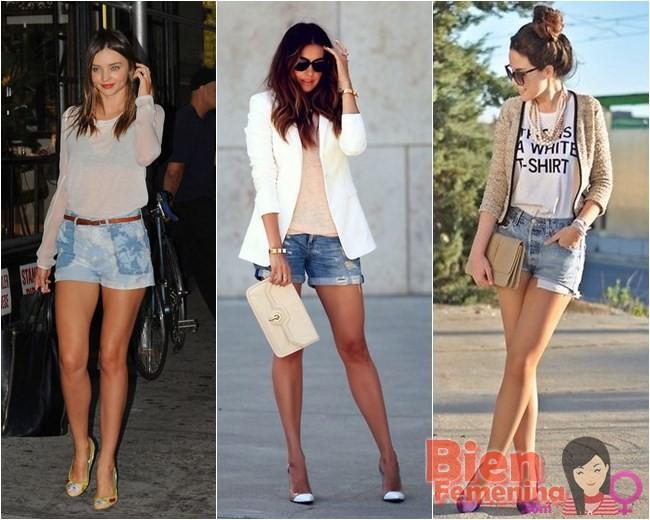 Scarpin y shorts