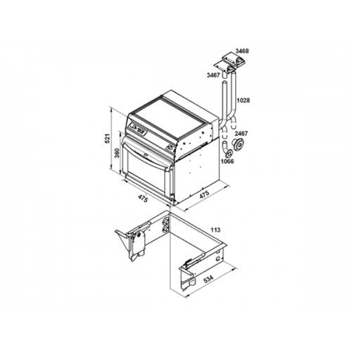 Wallas Kooktoestel-oven combi diesel 87D 55000087 TECH