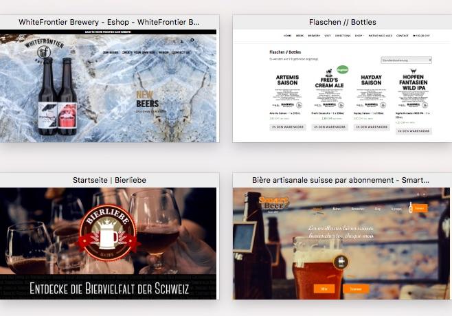 Craft Bier per Post aus Schweizer Online Shops