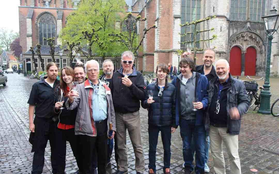 Eerste lustrum Lentebierwandeling in Leiden