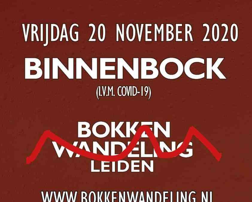 Bokkenwandeling wordt Binnenbock (in 2020)