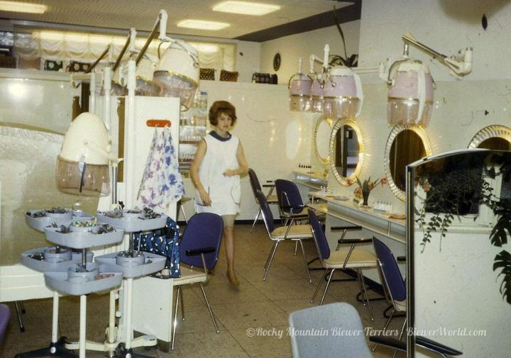 Gertrud Biewer at the Hair Salon