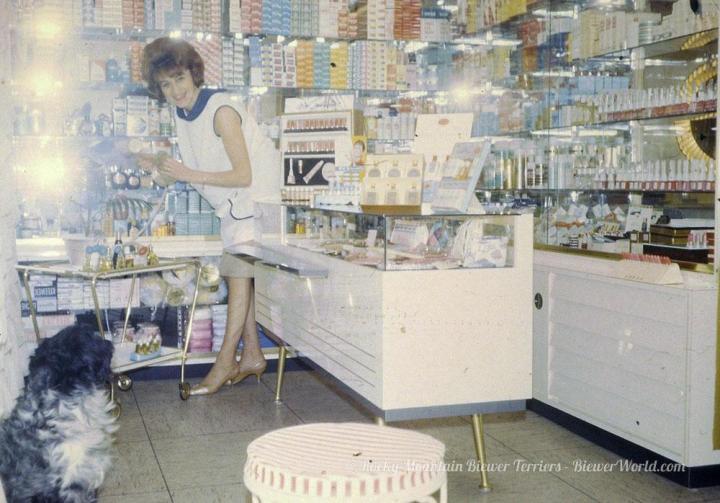 Gertrud Biewer at her Salon in Cologne