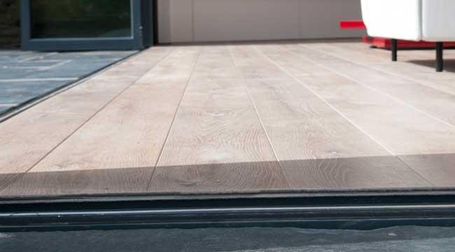 Bifold door thresholds make your bifold doors level access