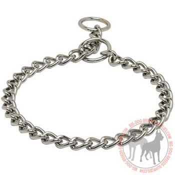 Chrome Plated Metal Choke Dog Collar
