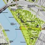 Central Park Rhein in blau.mannheim.blau