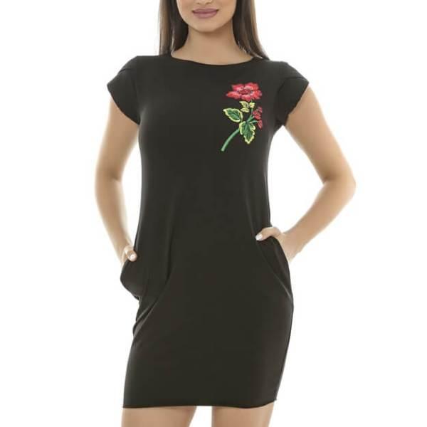 Rochie cu motiv floral sport
