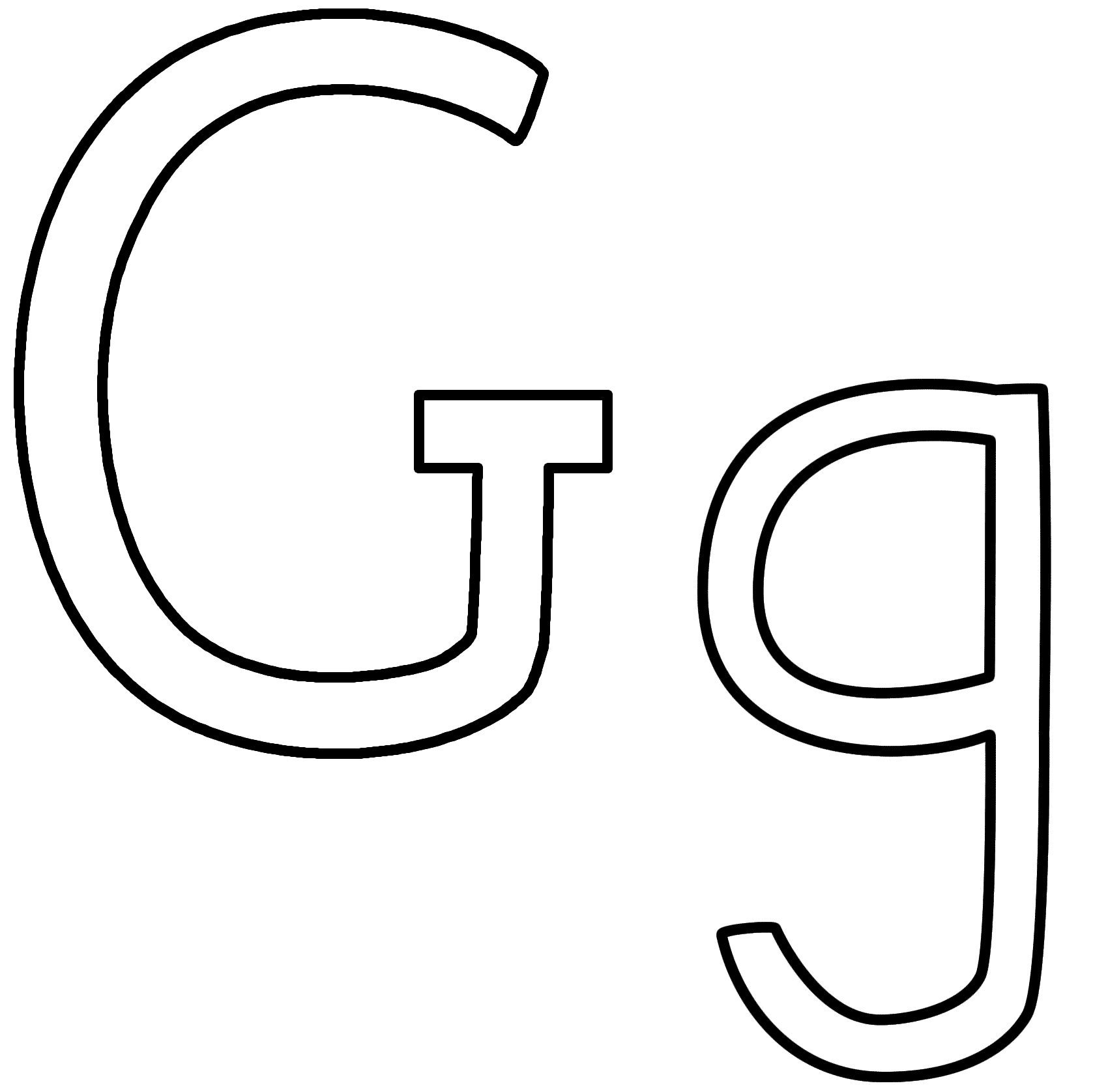 Geography Blog Letter G Coloring Pages