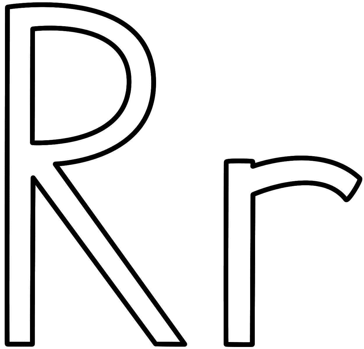 Lower Case R Coloring Page