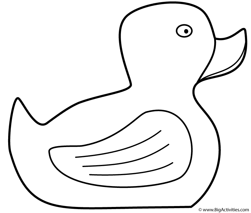 Rubber Duck Coloring Pages To Print Coloring Pages