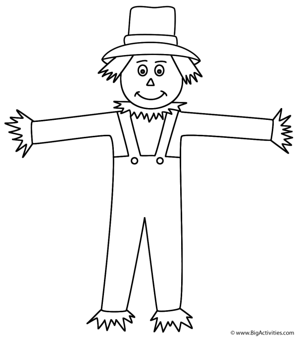 scarecrow - coloring page autumn fall