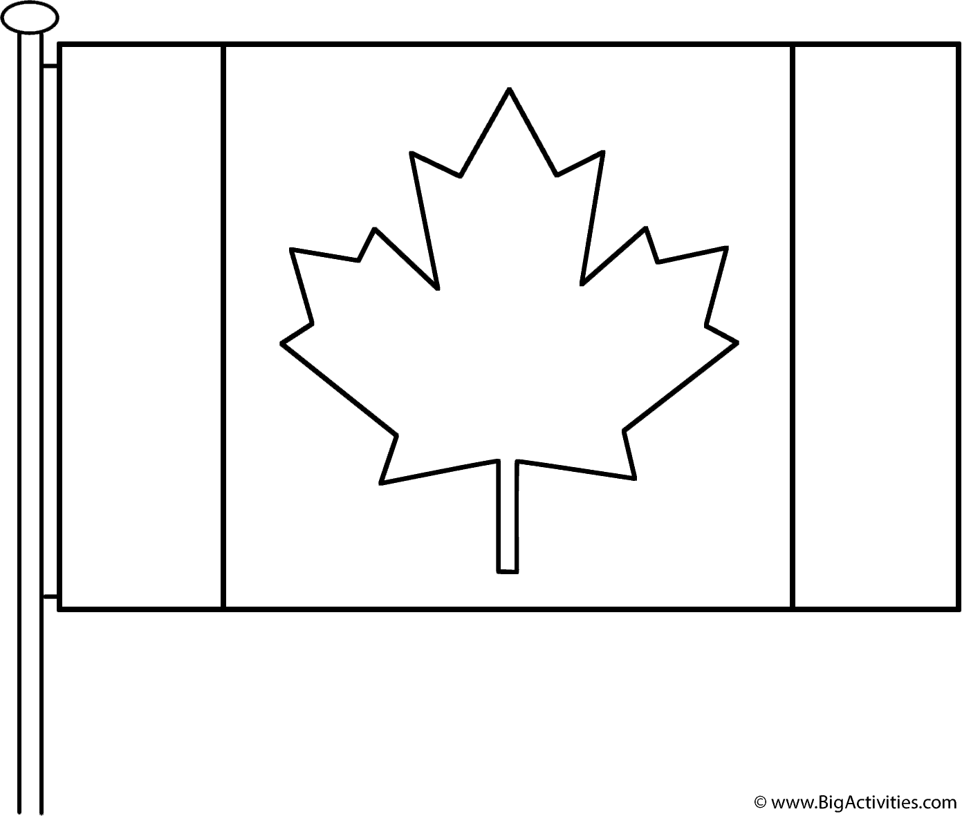 Canadian Flag With Pole