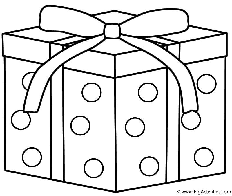 Gift Coloring Page Az Pages Sketch Coloring Page
