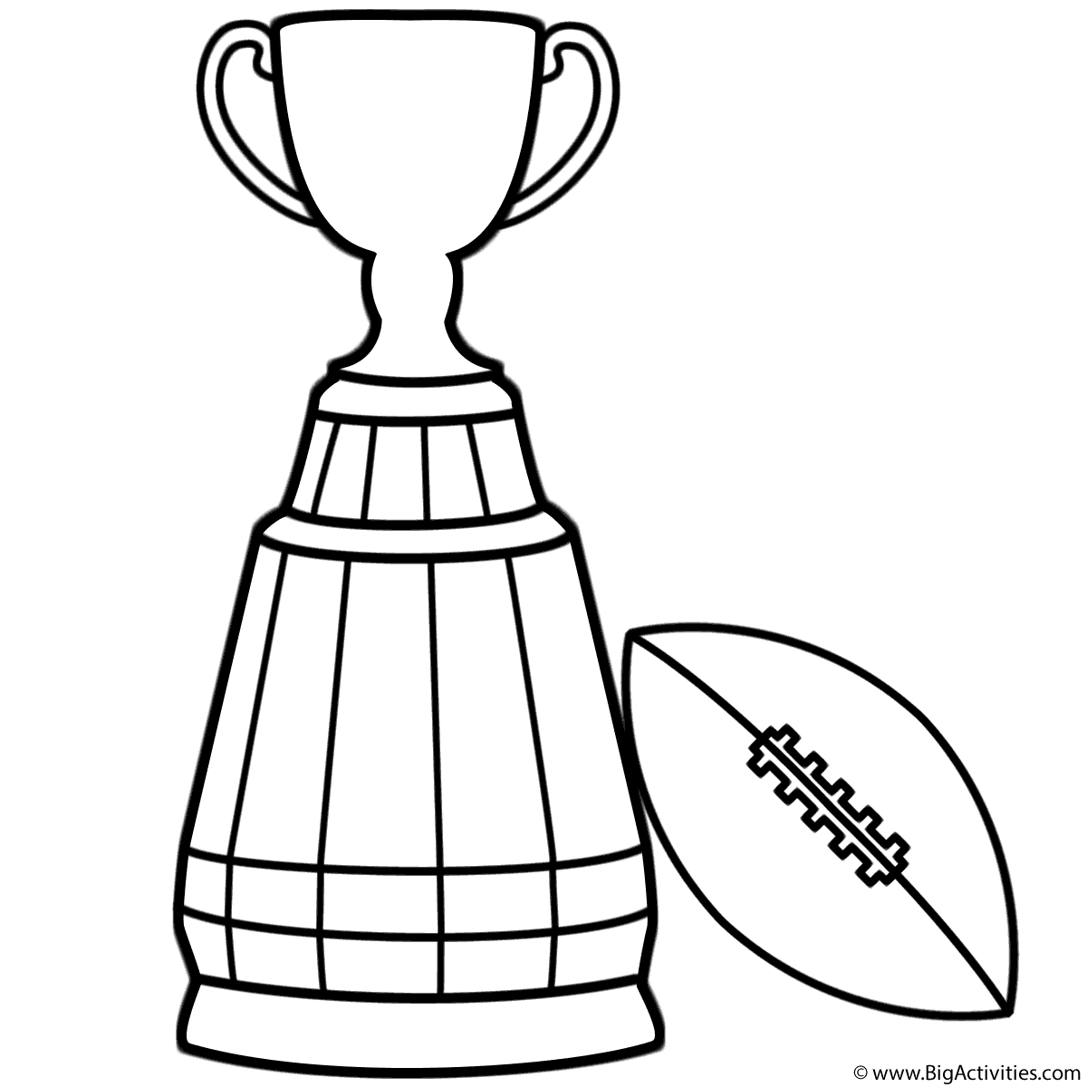 Grey Cup Trophy With Football