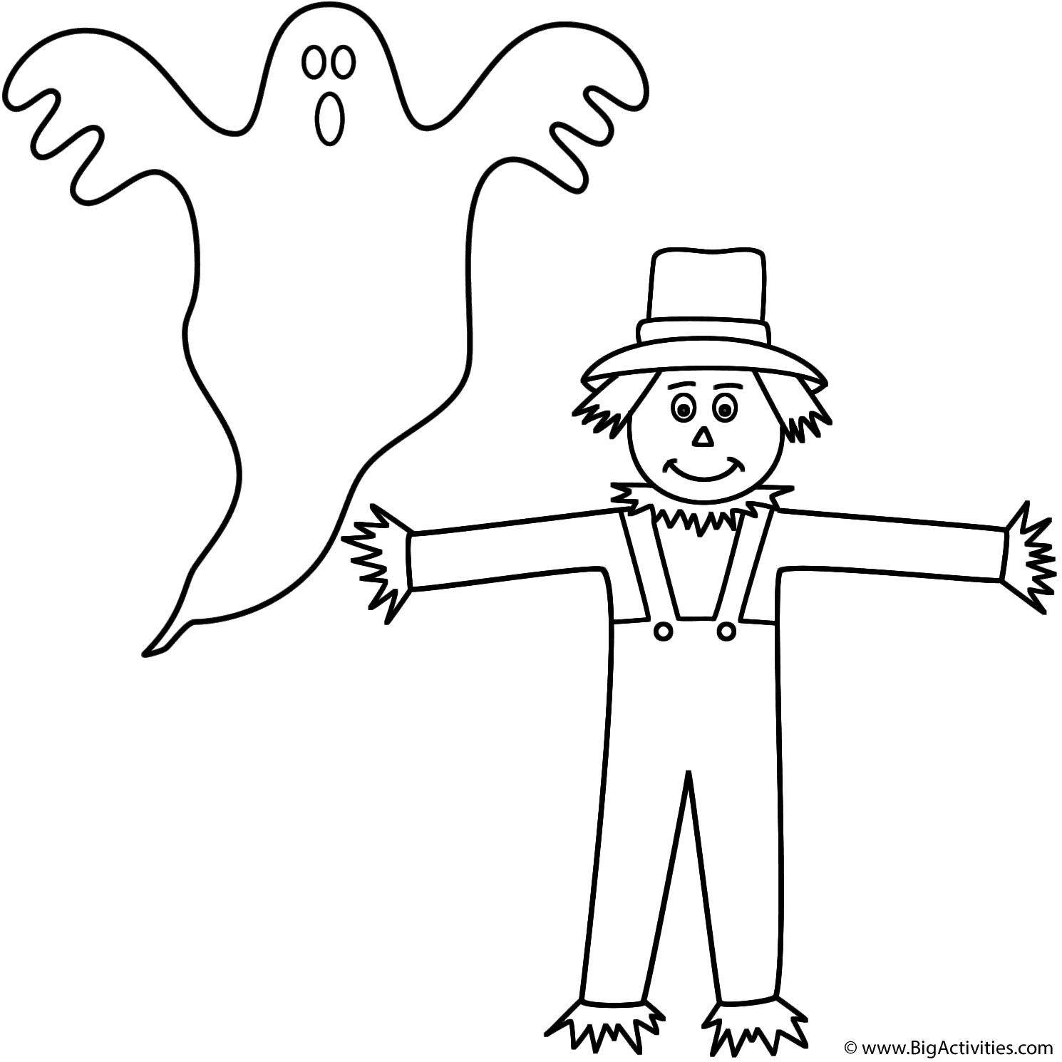 Ghost With Scarecrow