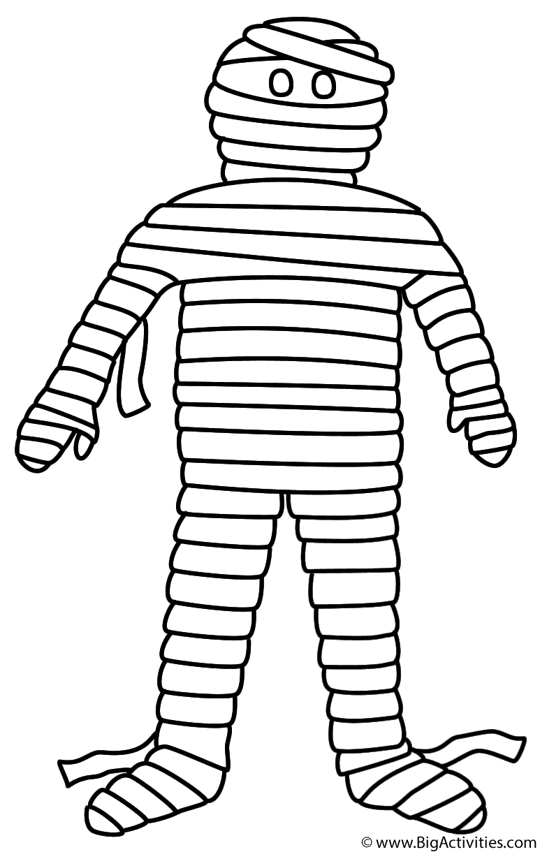 Printable Mummy Coloring Pages Printable Mummy Mummies Mummies