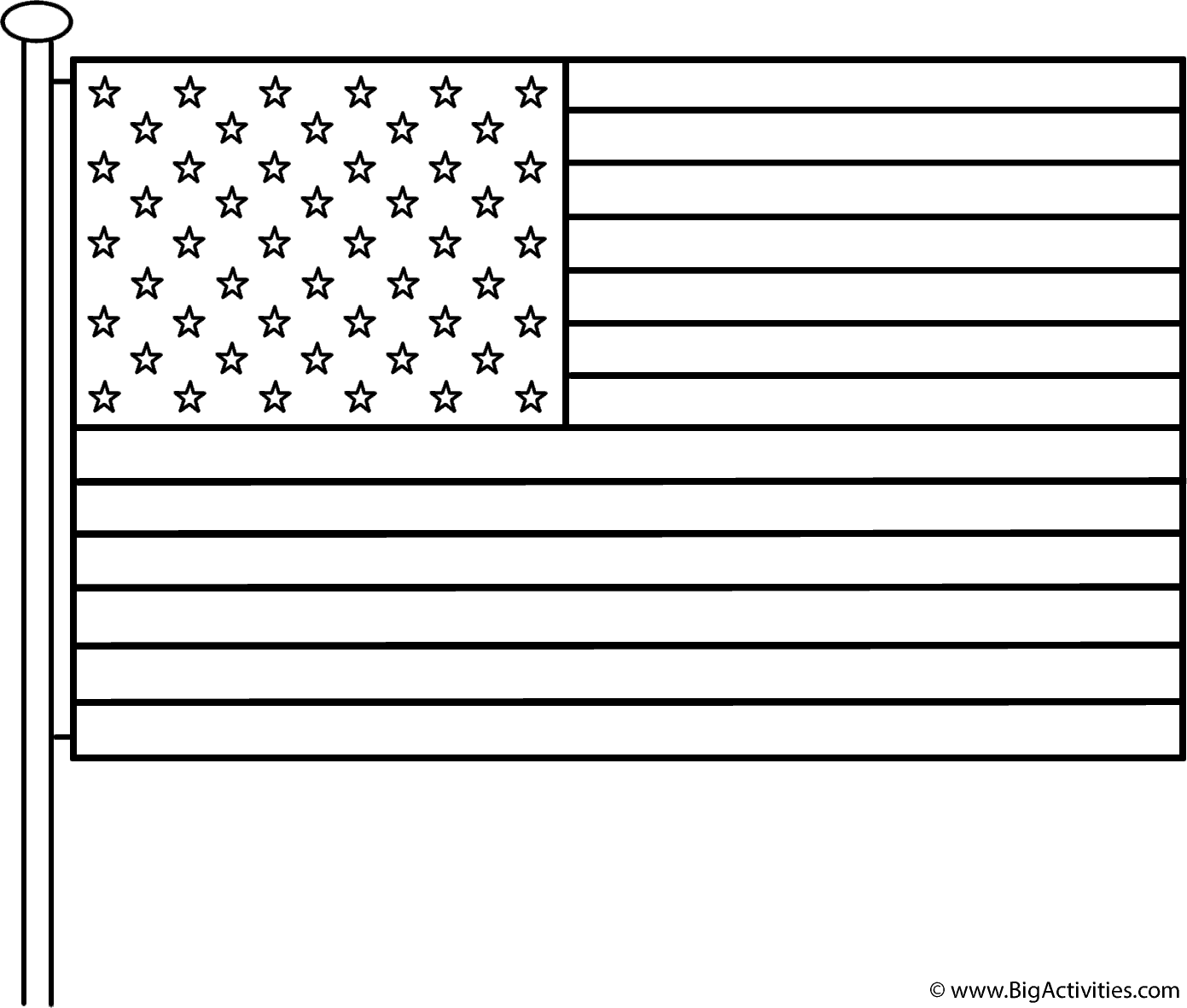 American Flag With Pole