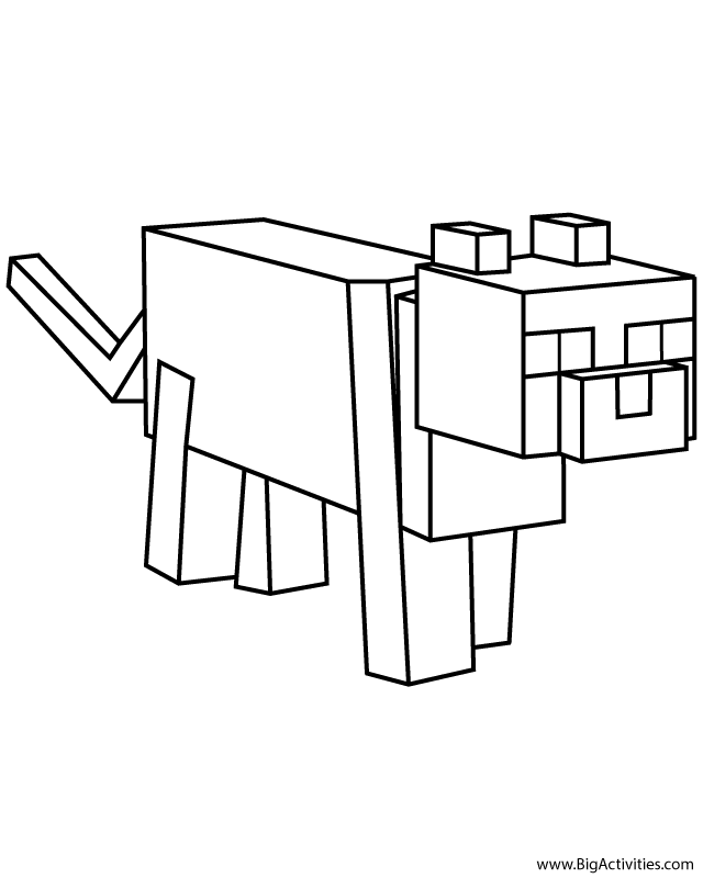 Ocelot Coloring Page Minecraft