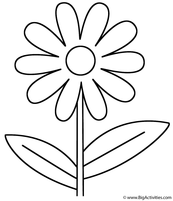 flower - coloring page mother's