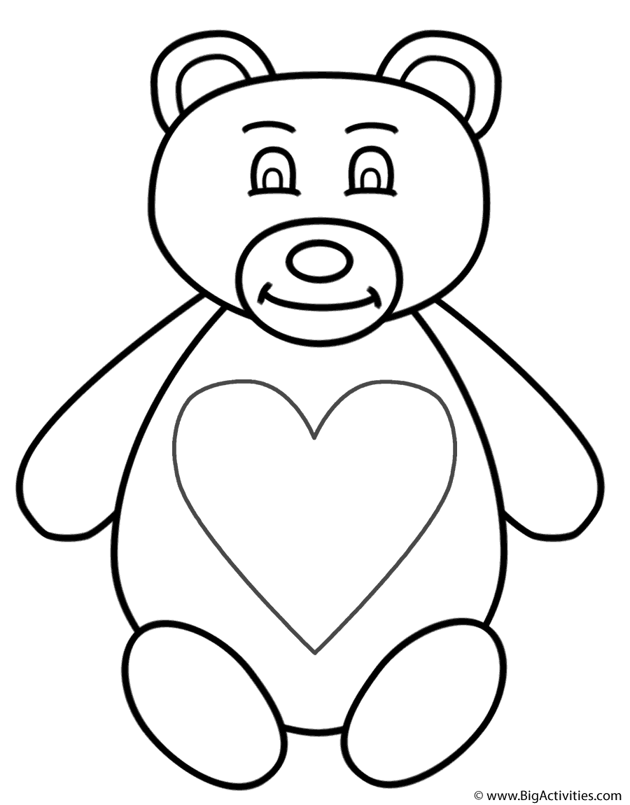 Teddy Bear Coloring Page Mother S Day