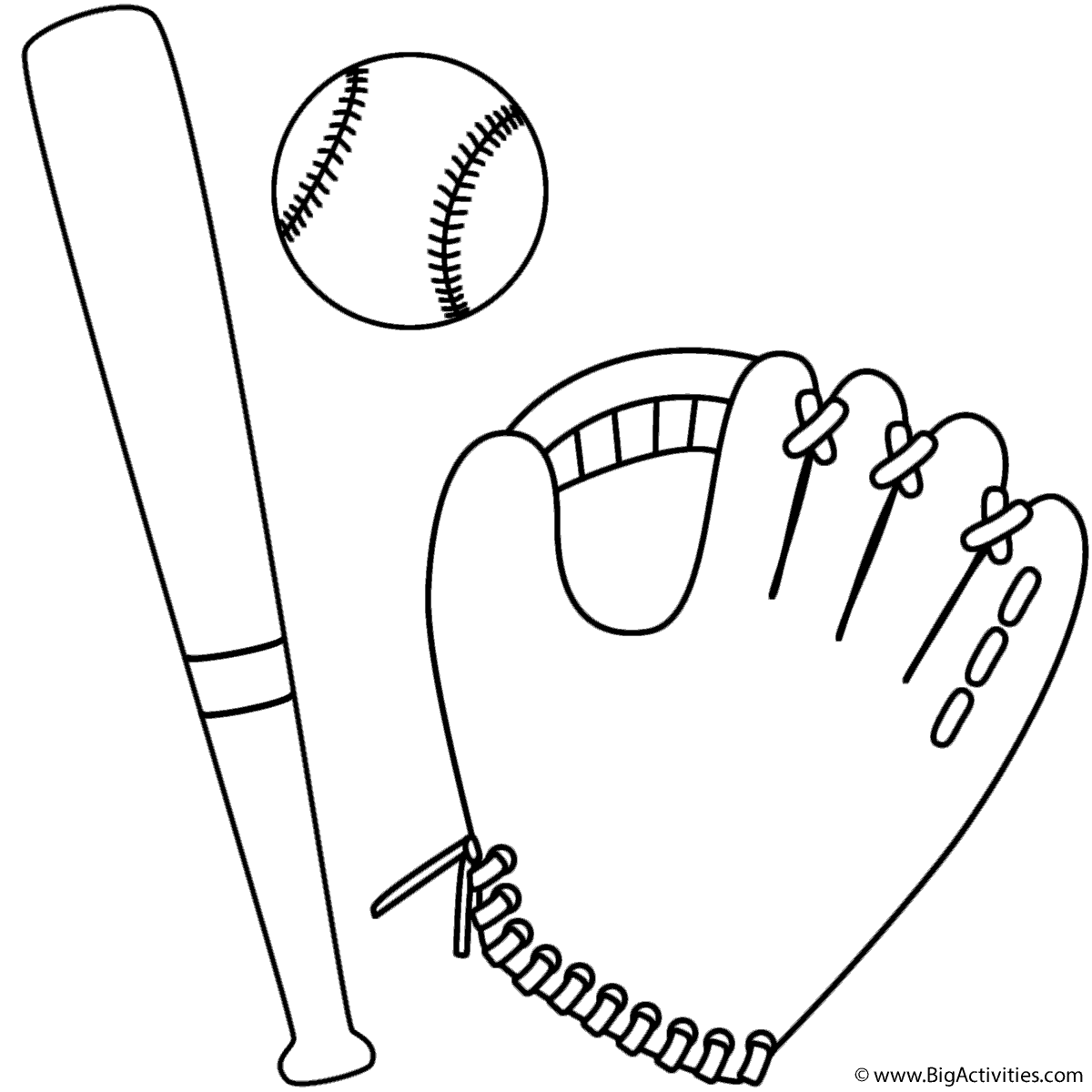 Coloring Page Baseball Glove